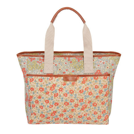 Patchwork Floral Tote Bag