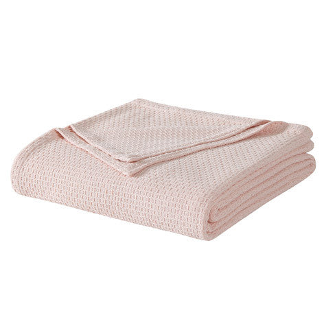 Blush Cotton Blanket