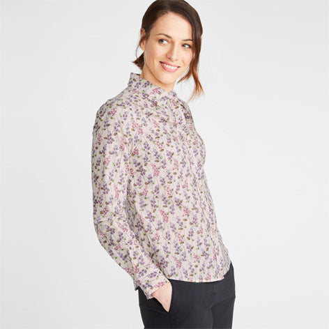 Floral Trellis Cotton Shirt