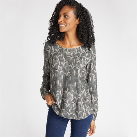 Velvet Piped Winter Tales Top