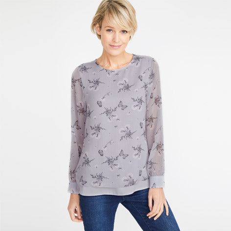 Dandelion & Butterfly Double Layer Top