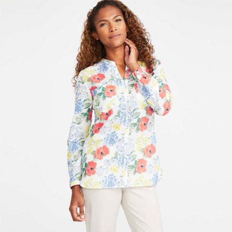 Holiday Floral Blouse