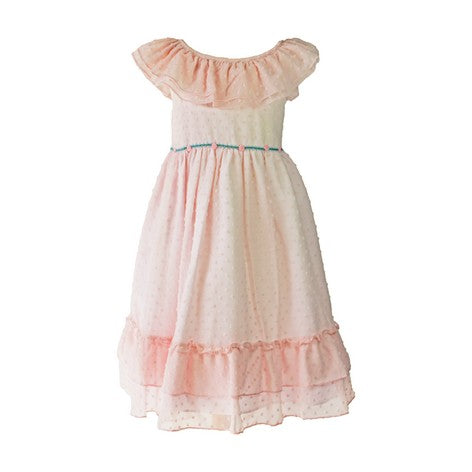 Light Pink Clip Dot Toddler Dress