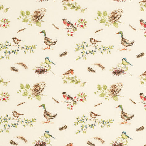 British Birds Hedgerow Fabric