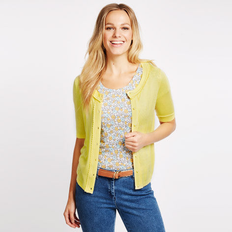 Lemon Picot Edge Cardigan