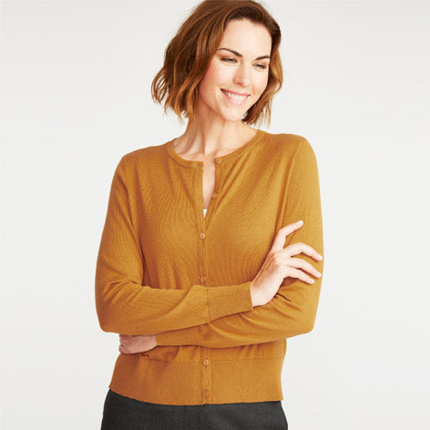 Honey Crew Neck Cardigan