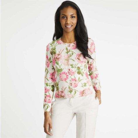 Springtime Fair Crew Neck Cardigan