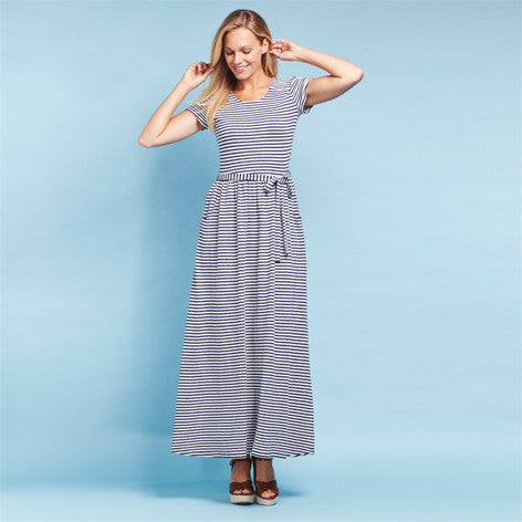 Jersey Stripe Maxi Dress