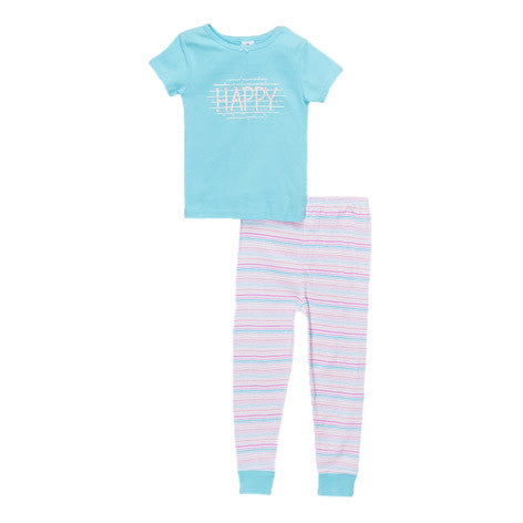 Candy Multi Stripe Shirt and Pant PJ Set