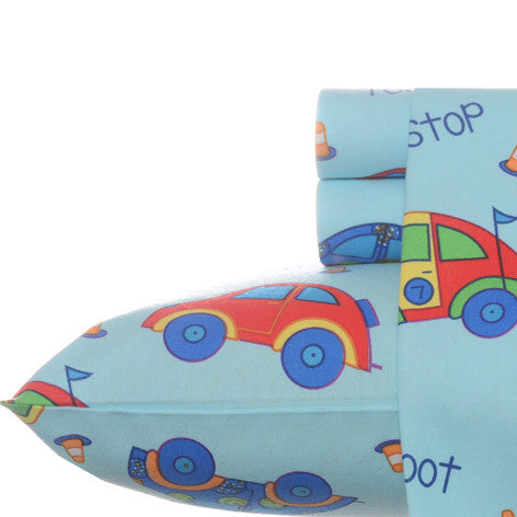 Cars Flannel Sheet Set