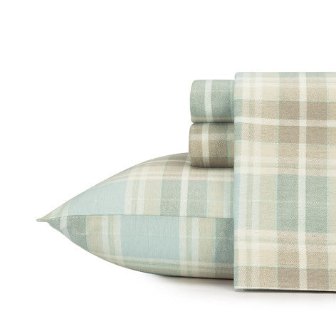 Cranbourne Plaid Flannel Sheet Set