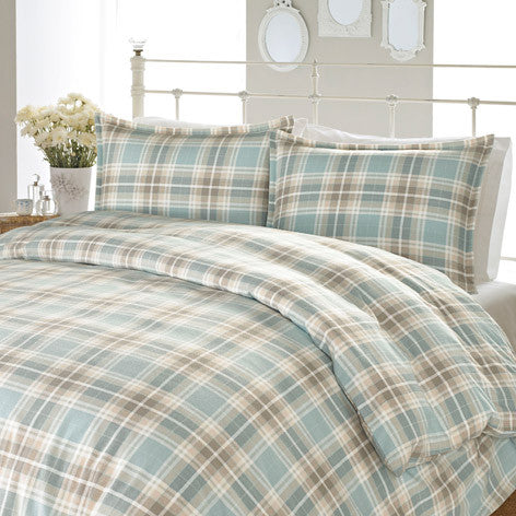 Cranbourne Plaid Flannel Duvet Set