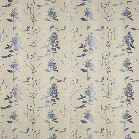Dragonfly Garden Ombre Chalk Blue Fabric