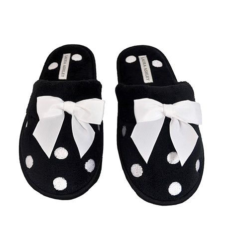 Hattie Ladies Black Slippers