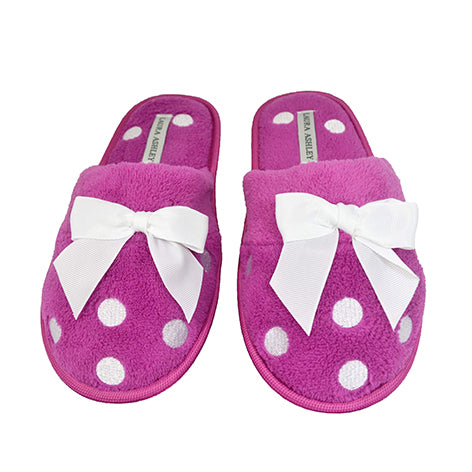 Hattie Ladies Deep Pink Slippers