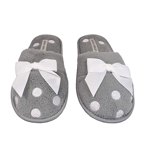 Hattie Ladies Light Grey Slippers