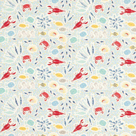 Fish Print Seaspray Fabric