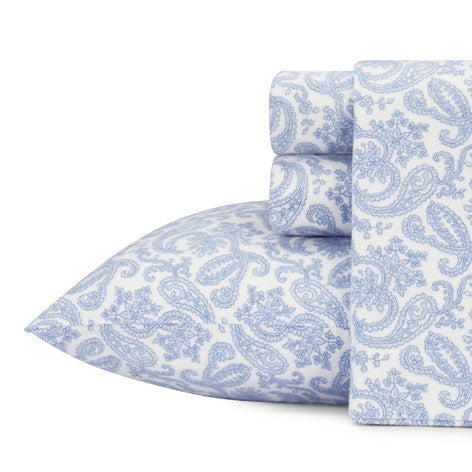 Fulham Paisley Flannel Sheet Set