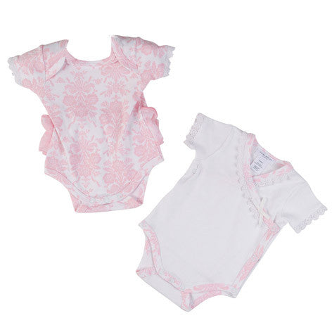 Pima Cotton Pink Floral 2 Pack Bodysuit