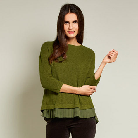 Pleated Blouse Effect Sweater