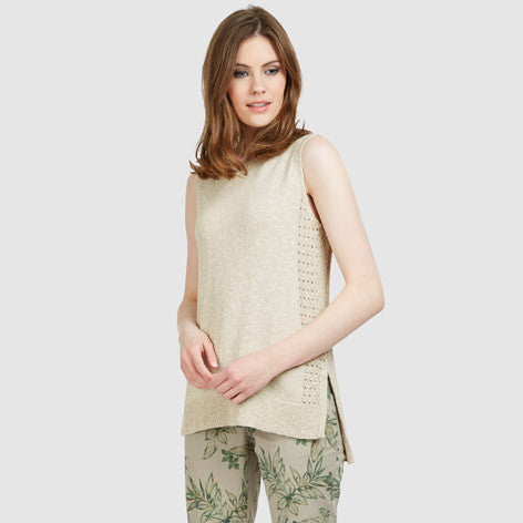 Sleeveless Longline Tank Sweater
