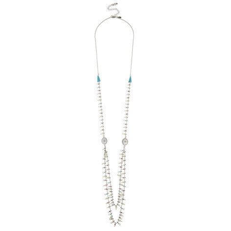 Daisy Double Row Beaded Necklace
