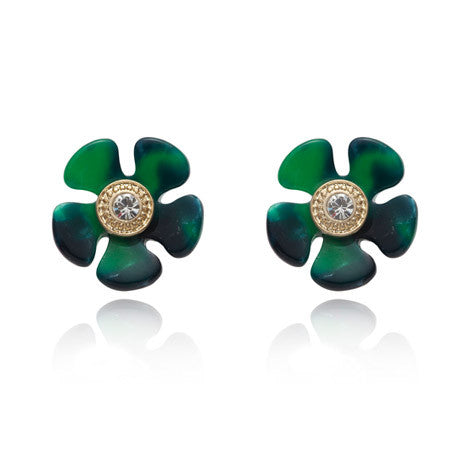 Perspex Flower Stud Earrings