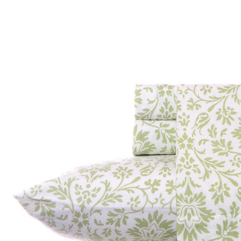 Jayden Flannel Sage Sheet Set