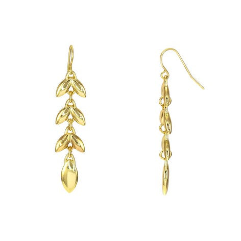 Linear Petal Drop Earrings