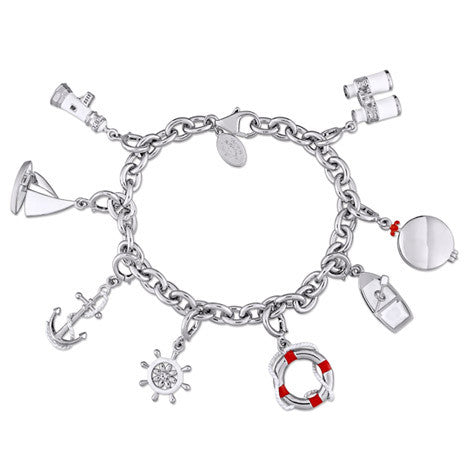 Nautical 8 Charms Bracelet