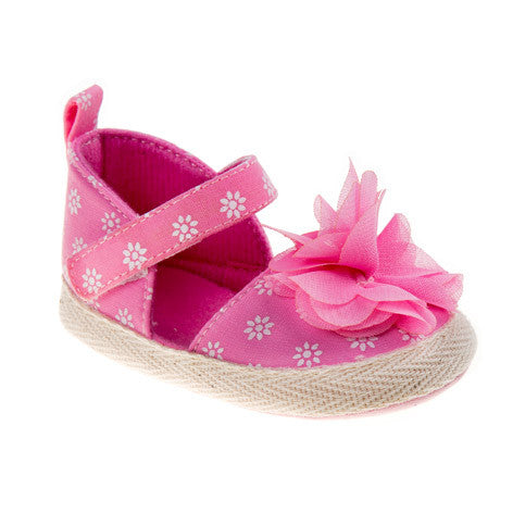 Noel Pink Mary Jane Crib Shoes