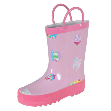 Girls Tea Cup Rain Boots
