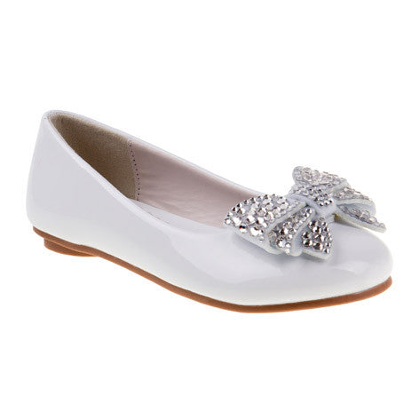 Ava Girls White Ballerina Flats