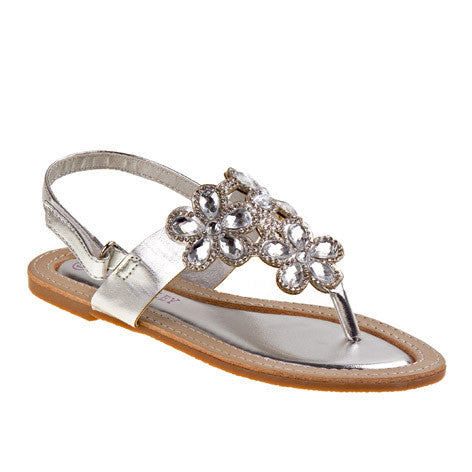 Caitlin Silver Girls Sandals