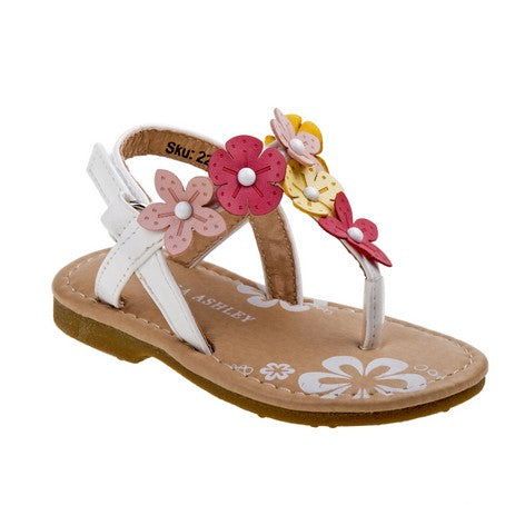 Ariel Girls Thong Sandal With Flowers