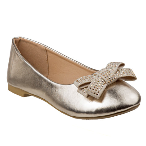 Lilly Gold Embellished Mary Jane  Size 11-4