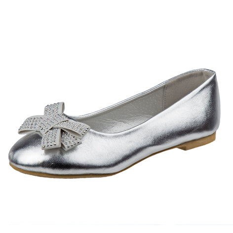 Lilly Silver Embellished Mary Jane Size 11-4