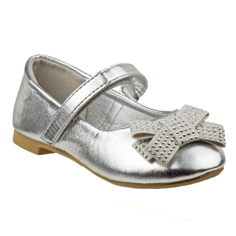 d9695e6a098 Lilly Silver Embellished Mary Jane Size 5-10