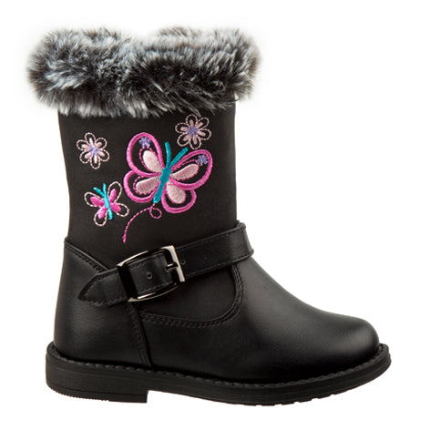 Blair Black Fur Lined Boot