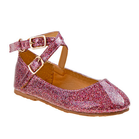Cassia Multi Mary Jane Girls Glitter Flats