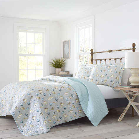 Cockatoo Bay Grey Quilt Set