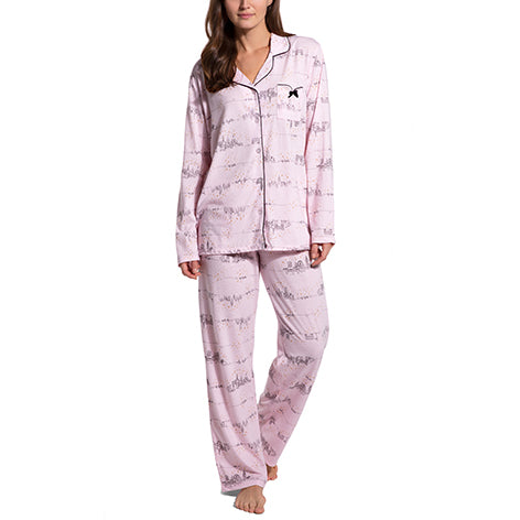 London Glitter Notch Collar PJ Set