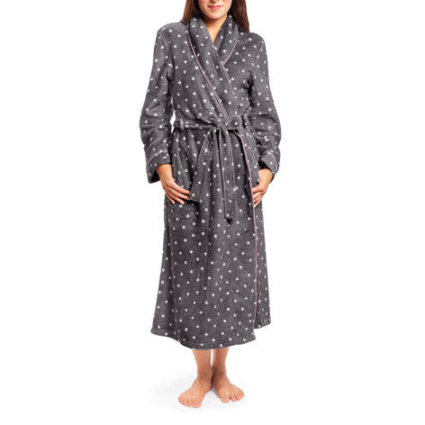 Polka Dot Fleece Robe