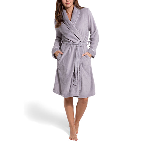 Textured Fleece Robe