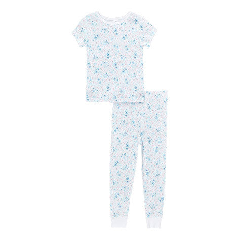 Aqua Wild Ditsy Shirt and Pant PJ Set
