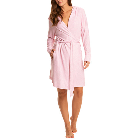 Brushed Hacci Hooded Robe