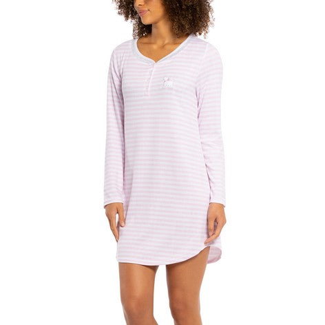 Lilac Stripe Scottie Embroidery Sleepshirt