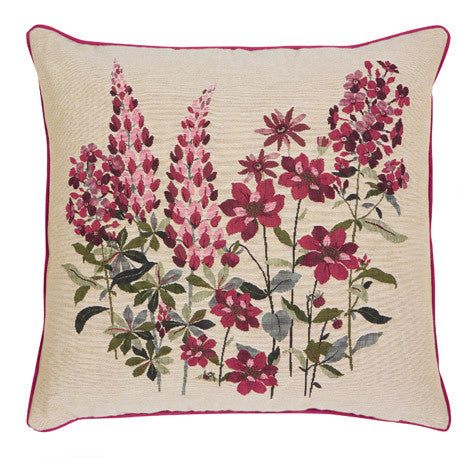 Lupins Floral Tapestry Cushion