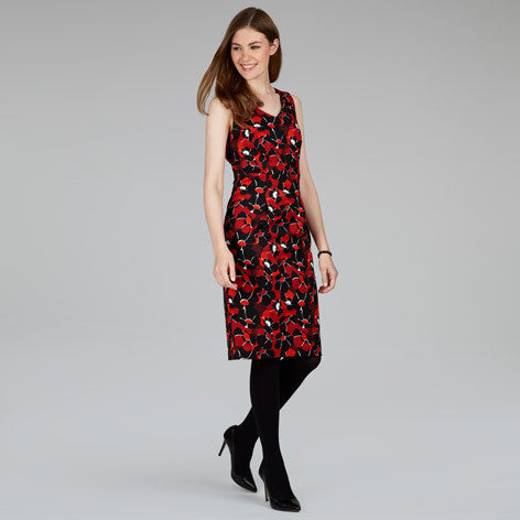 Poppy Floral Textured Shift Dress