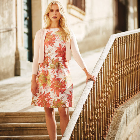 Chrysanthemum Floral Shift Dress